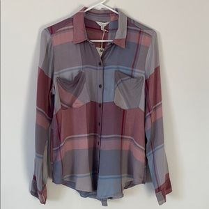 Lucky Brand Long Sleeve Plaid Flannel Shirt